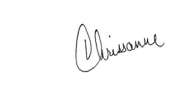 Chrissanne's signature.