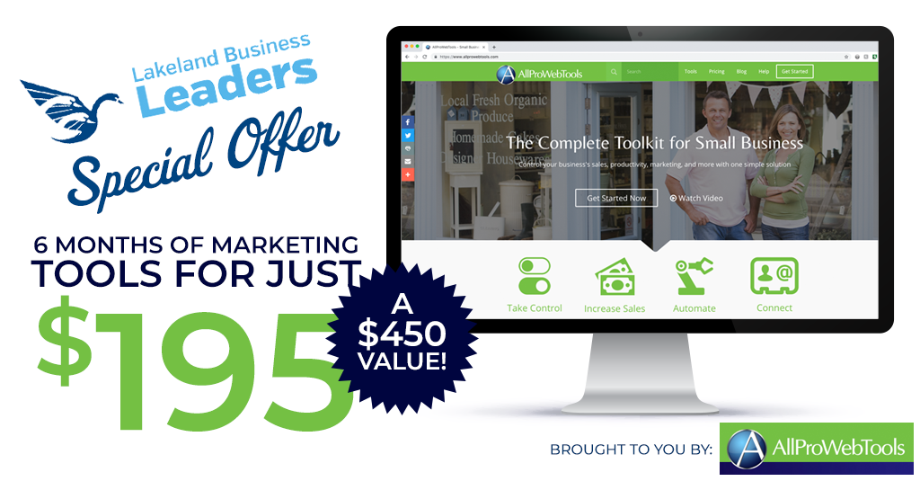 , All Pro Web Tools is Offering 6 months of marketing tools for just $195