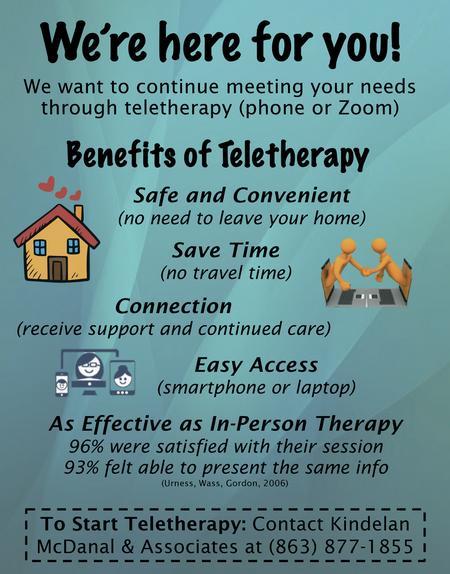 , Insider: Kindelan McDanal & Associates | Teletherapy